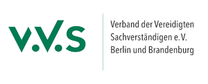 V.V.S Verband der vereidigten Sachverständigen e.V. Berlin und Brandenburg Logo